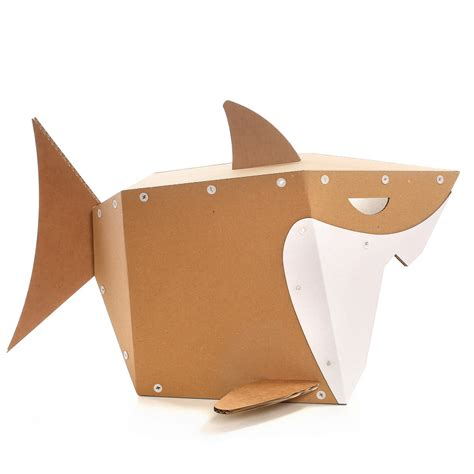 Shark Cardboard Cat House ? live on the edge and stay safe