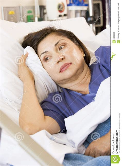 woman in hospital bed senior woman in hospital bed stock photos image 6430663