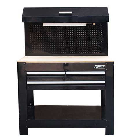 work bench lowes shop kobalt 36 in 3 drawer wood work bench at lowes com