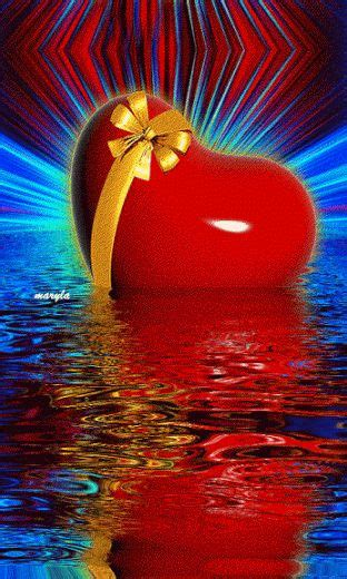 imagenes de sexo con movimiento imagen con movimiento de un corazon con reflejo en el agua
