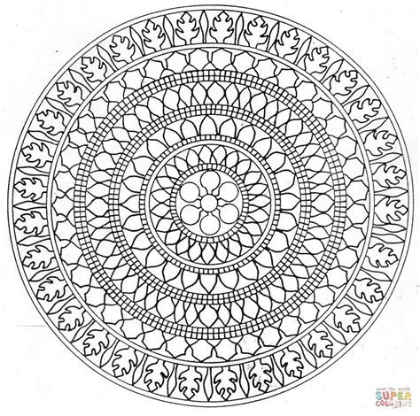 mandala coloring page free printable coloring pages