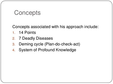W Deadly Disorders by Dr W Edward Deming
