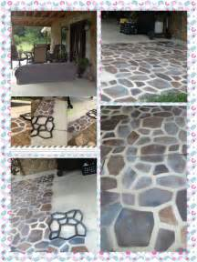 Outdoor Floor Painting Ideas A Patio Floor With Spray Paint I Previously Posted This Project I Ve Started On