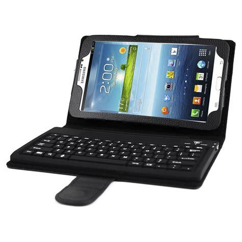 flip cover with keyboard for samsung galaxy tab 3 7 0 tablet black ebay