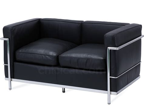 corbusier loveseat le corbusier lc2 sofa 2 seater petit confort platinum