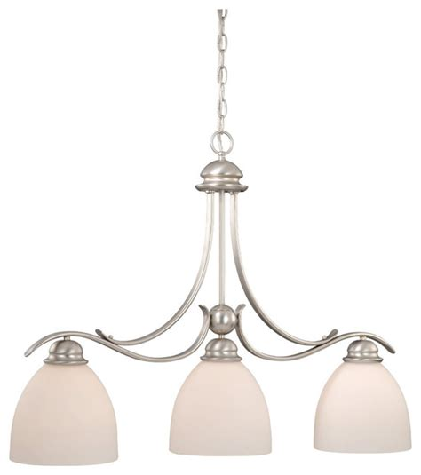 brushed nickel pendant lighting kitchen vaxcel al pdd360bn avalon 3 light kitchen island light