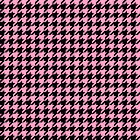 pink houndstooth pattern half inch carnation pink and black houndstooth check