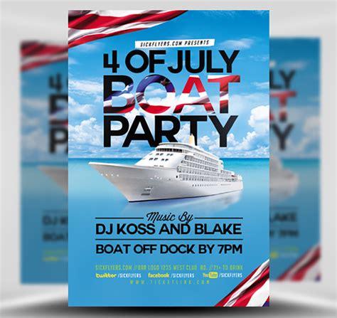 Boat Flyer Template 4th of july boat flyer template flyerheroes