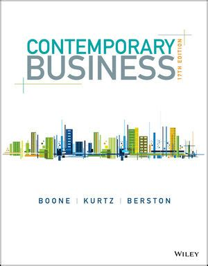 Small Business Management 17th Edition wiley contemporary business 17th edition louis e boone david l kurtz susan berston