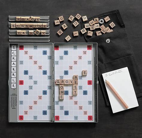 buy travel scrabble magnetic travel scrabble by restoration hardware