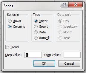 membuat nomor halaman pada excel 2010 membuat nomor urut dengan fill series pada microsoft excel