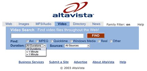 Alta Vista Search How Can You Search For Documents In Non Html Formats
