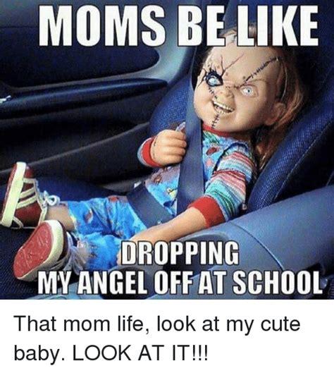 moms   dropping  angel   school  mom life