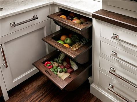 kitchen cabinet and drawer organizers fruit and vegetable drawers traditional new york by