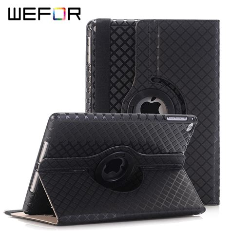 cover for apple air 2 6 pu leather flip smart stand 360 rotating screen
