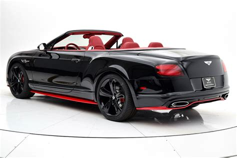 bentley 2017 convertible 2017 bentley continental gt speed convertible black edition