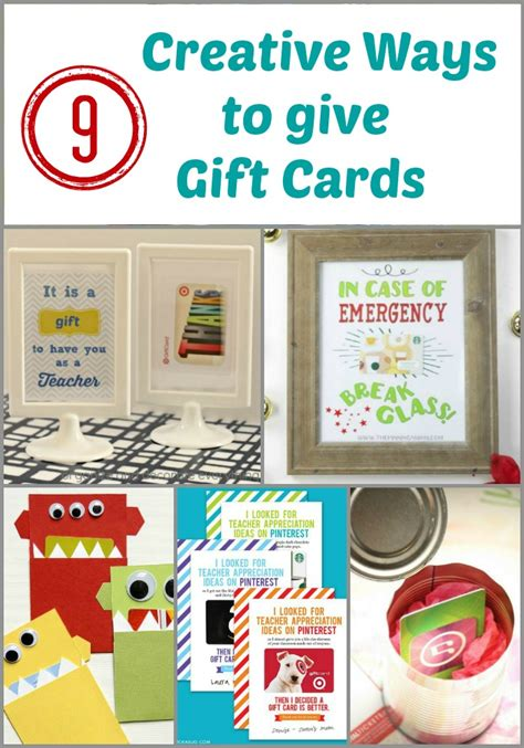 9 creative ways to give gift cards organize and decorate
