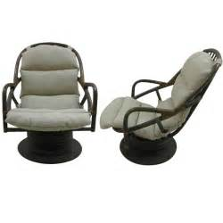 swivel rattan chair pair of rattan swivel rocking lounge chairs at 1stdibs