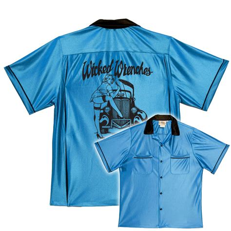 design a bowling shirt bowlingshirt com wicked wrenches on classic bowling shirts