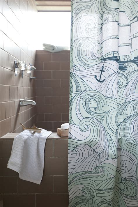 danica studio odyssey shower curtain overflowing with fashionable accessories