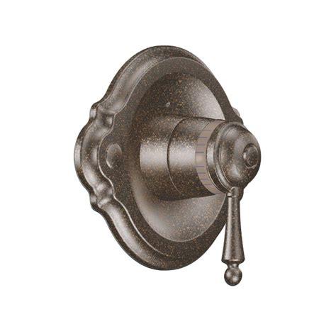 shop moen waterhill oil rubbed bronze 2 handle high arc moen eva 1 handle posi temp shower only trim kit with eco