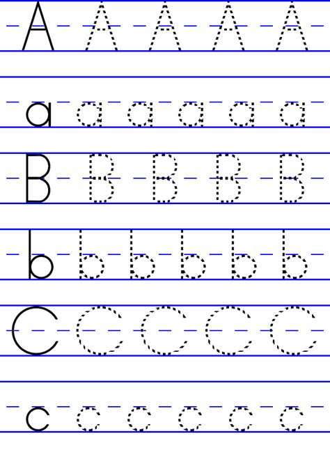 printable abc letter tracing abc tracing printouts posted by courtney d wright at 10