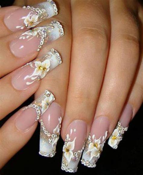 latest trend in french manicures for older women latest fashion of long nails for girls lahori fashion