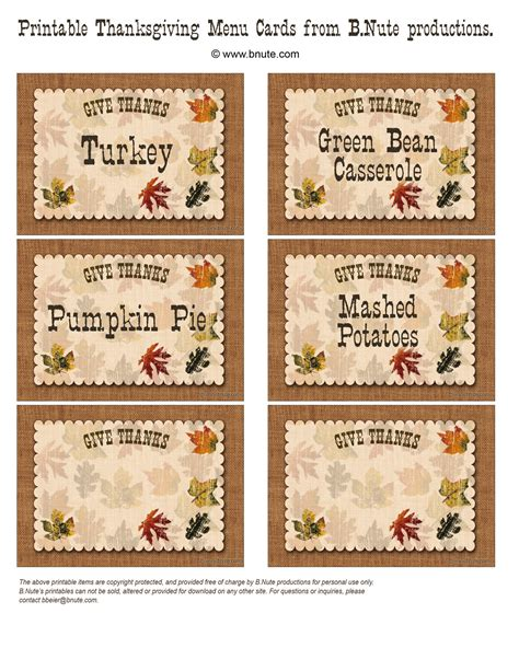 printable menu tags bnute productions free printable give thanks thanksgiving