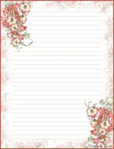 printable fall stationery paper 30 best free printable stationary images on pinterest