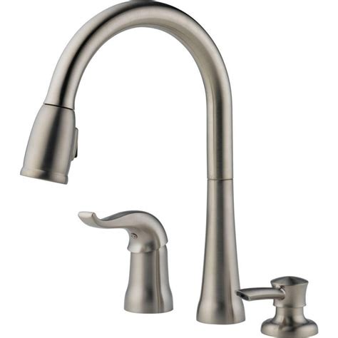 single handle pulldown kitchen faucet delta kate single handle pulldown kitchen faucet