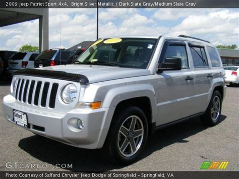 2009 Jeep Patriot Sport Bright Silver Metallic 2009 Jeep Patriot Sport 4x4