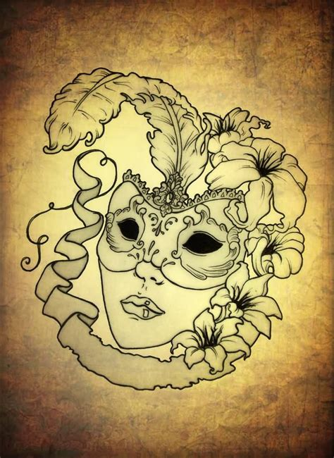 masquerade mask tattoo designs mask ideas and mask designs page 8