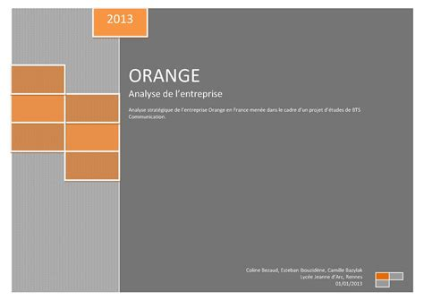 si鑒e social d orange calam 233 o analyse de l entreprise orange 2013