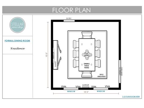 Dining Room Floor Plan by E Design Archives Stellar Interior Design