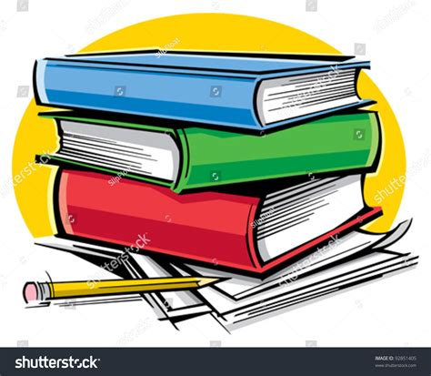 picture of school books school books stock vector 92851405