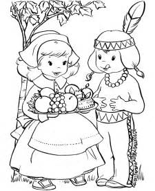 thanksgiving day coloring page sheets pilgrim with