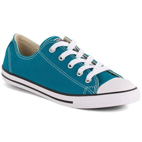 Converse Dainty Ox Weiß by Converse Chuck Dainty Ox Womens Trainers Teal