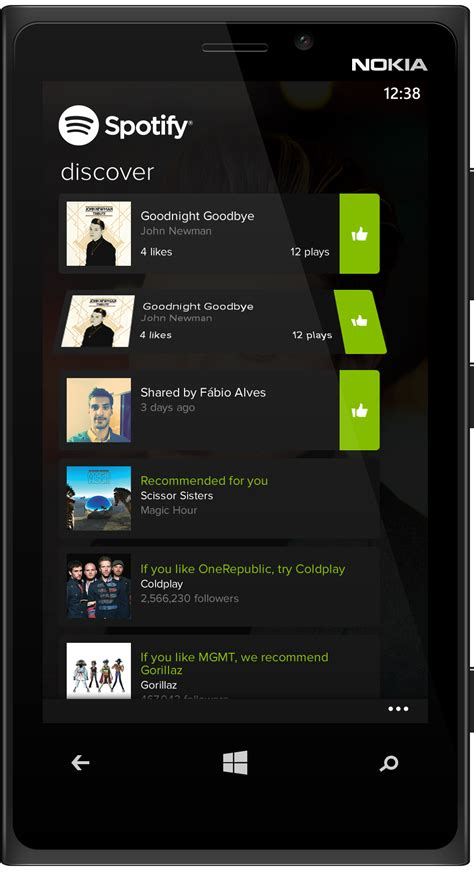 unique themes for windows 8 1 spotify ui ideas for windows 8 and windows phone the