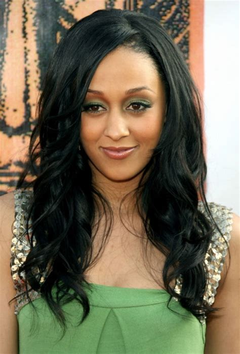 tia mowry long straight hair extensions hairstyle hot black hairstyles for long hair 2015