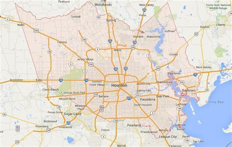 houston texas area map map of houston tx area images