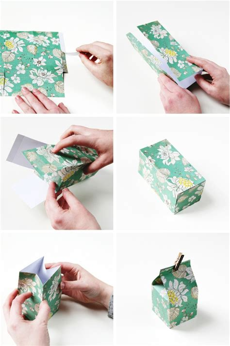How To Make A Small Paper Box - diy mini milk gift boxes gathering