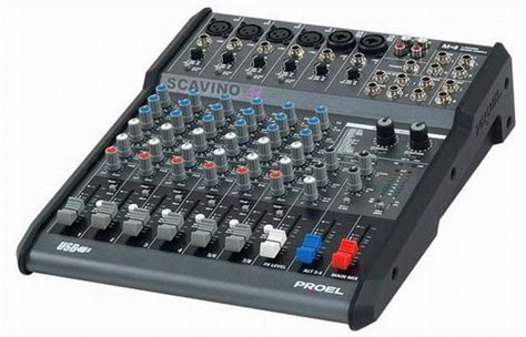 Mixer Audio Proel mixer m8 proel mixer con effetti incorporati scavino it