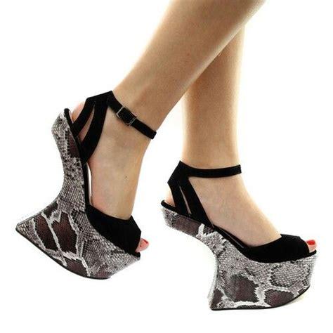 snake skin platform no heel shoes shoes