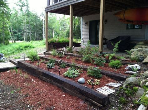 Railroad Ties Landscaping Ideas with Pinterest Discover And Save Creative Ideas