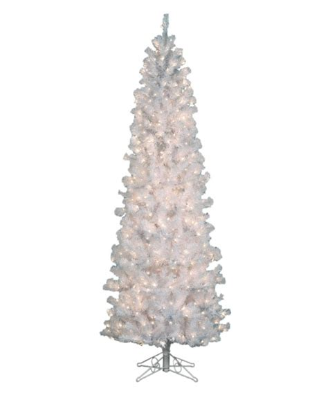 ponderosa needle pine artificial christmas tree pre lit clear 4 5 ft pencil pine white tree at hayneedle