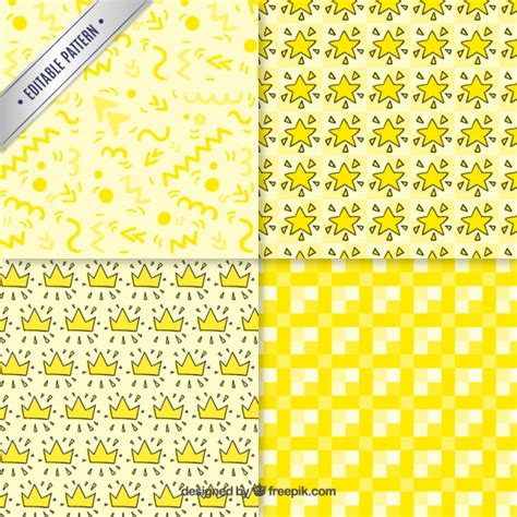 yellow pattern ai collection yellow patterns vector free download