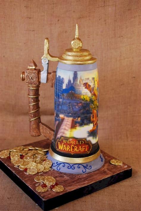 world of warcraft beer stein cake cakecentral com