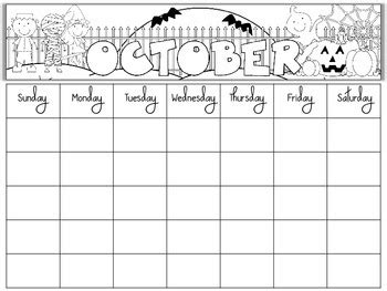 printable monthly calendar for kindergarten free blank monthly calendars editable