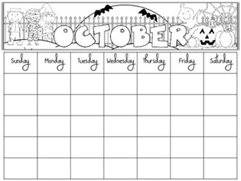 kindergarten calendar template free blank monthly calendars editable