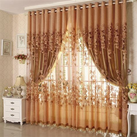 blackout sheer curtains upscale floral tulle room door blackout window curtain